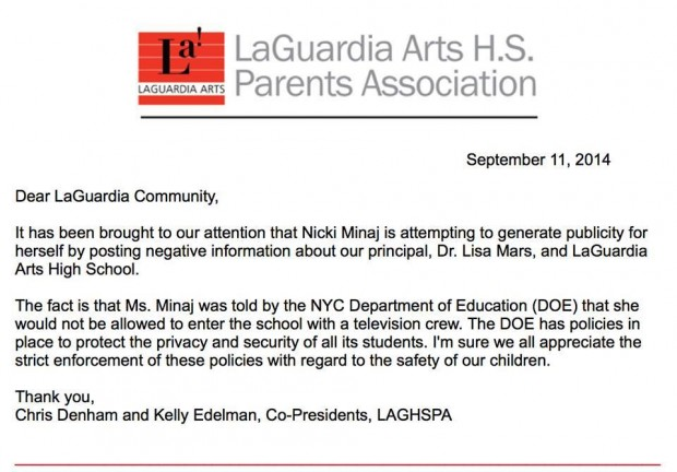 Letter from LaGuardia